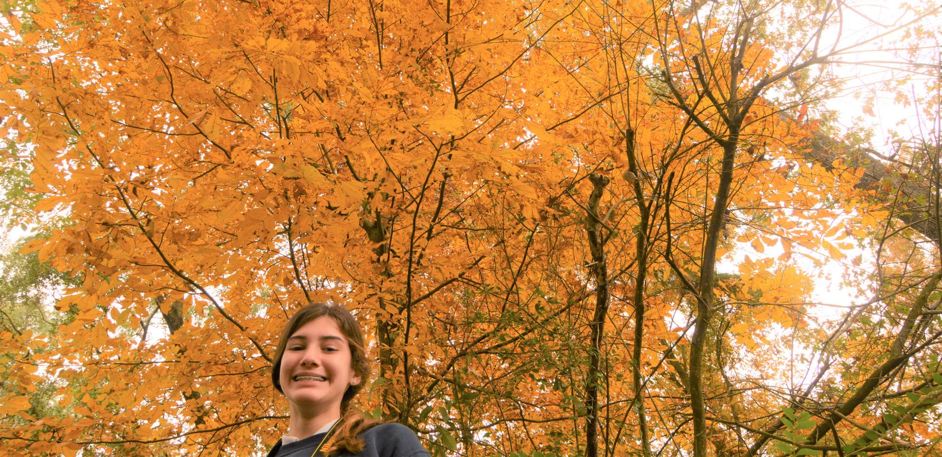 margaret girl and yellow tree.JPG