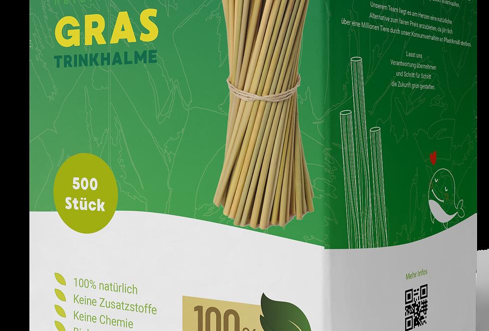 Life Natura - Einweg Bio Strohhalme aus Lepironia-Gras 500 Stk.