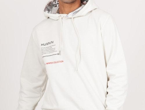 Human aluminium hoodie off-white