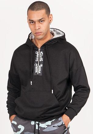 Gothic silver hoodie black