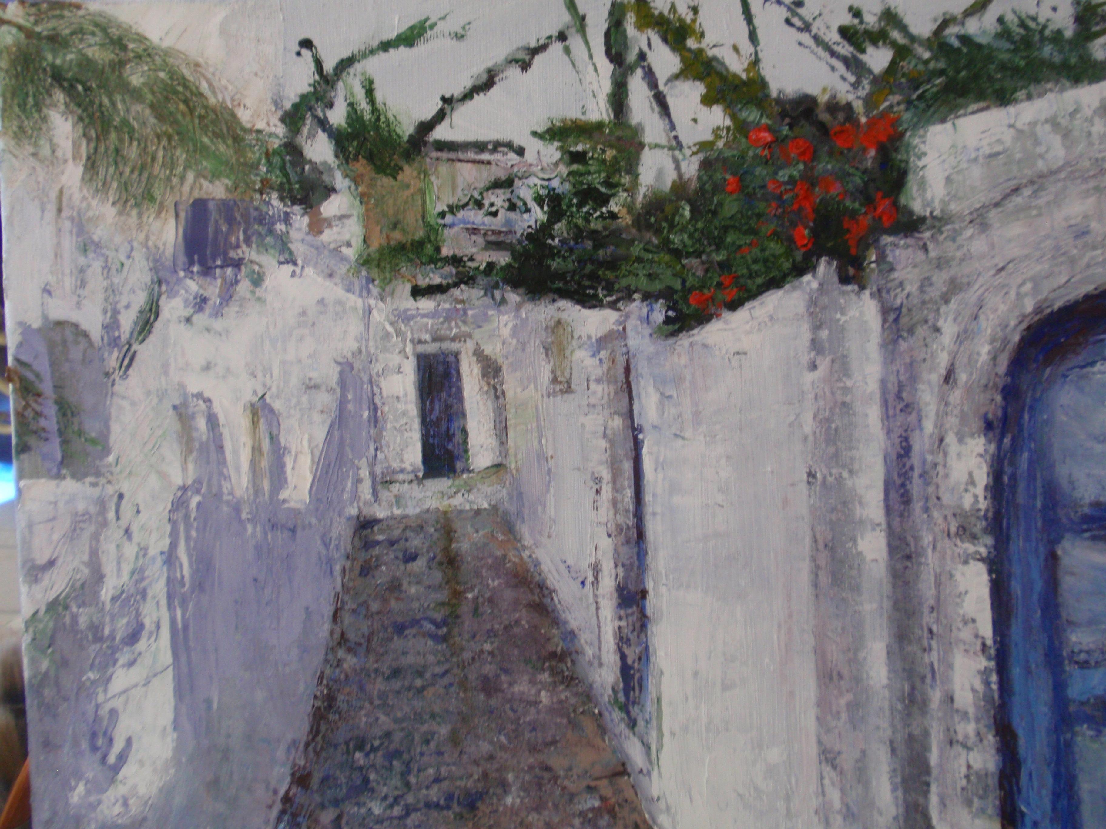 Behind walls