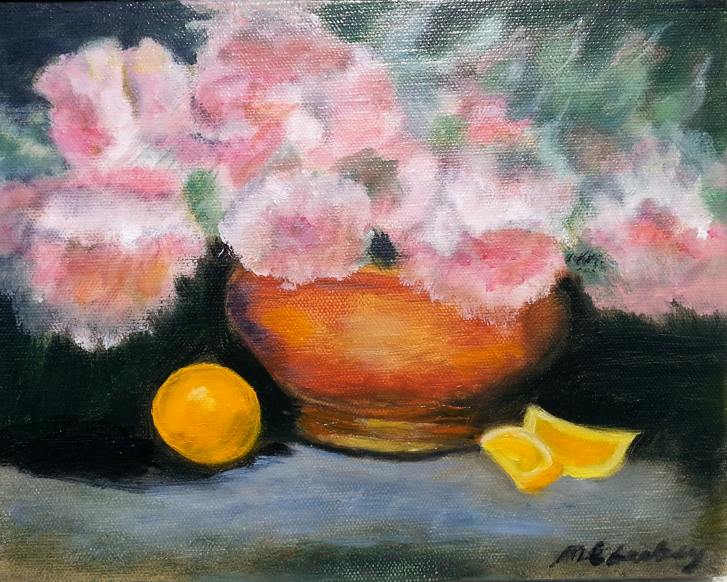 Peonies and Oranges