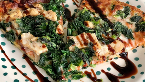 Kale Pizza with a Broccoli Cheddar Crust, that is Amazing...Where