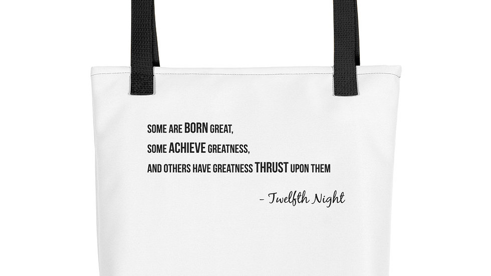 Tote bag   Twelfth Night Quote