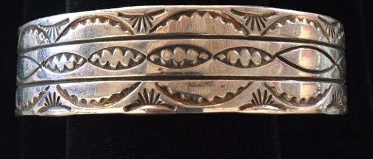Navajo Stamp Design Bracelet
