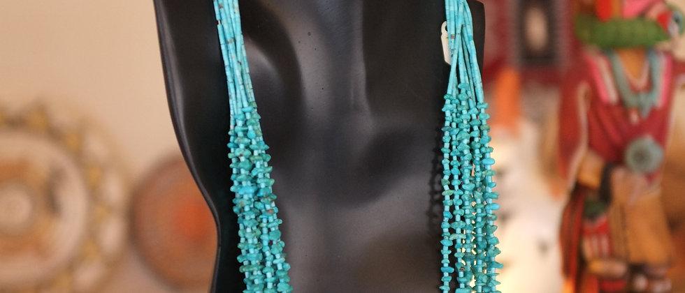 Santo Domingo Turquoise Bead Necklace