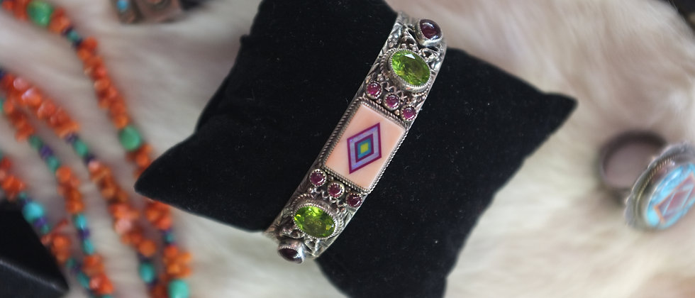Opal Inlay Bracelet