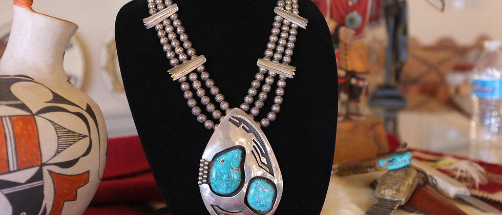 1970s Shadow Box Style Necklace