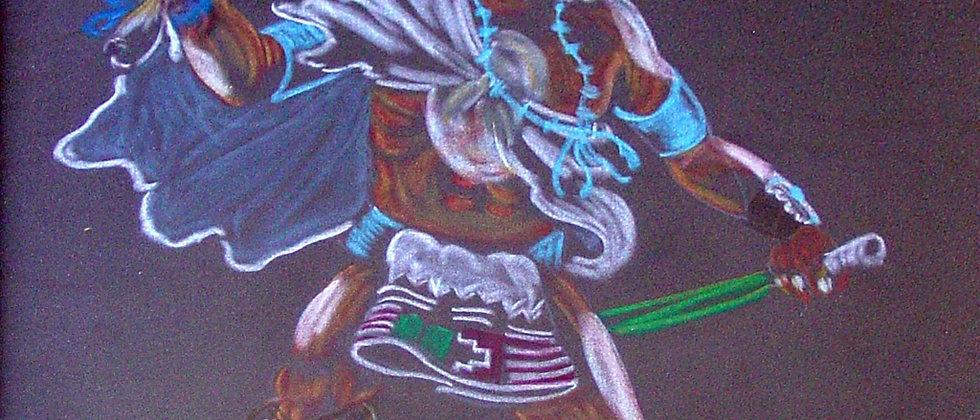 """Hopi - """"Mongwa"""" (Owl Whipper)"""