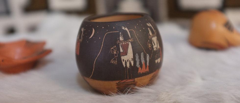 Navajo Yei Bi Chai Bowl Minature