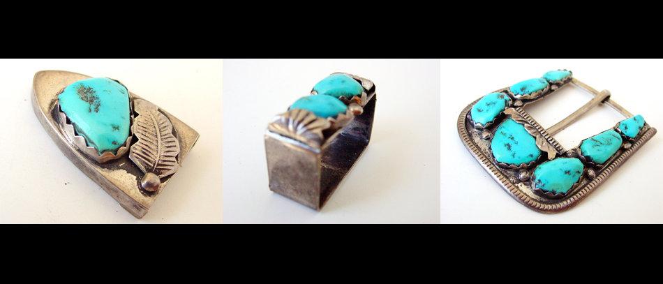 Ranger Style Turquoise Belt Buckle