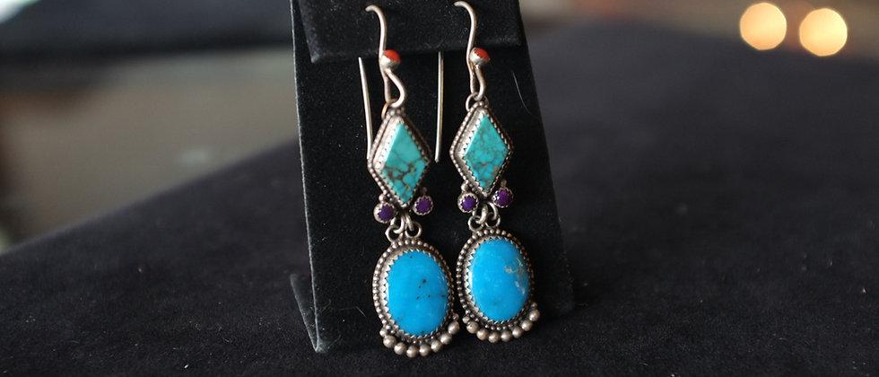 Beautiful Multi-stone Earrings