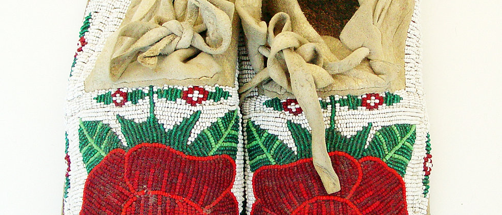 Northern Plateau Beaded Moccasin