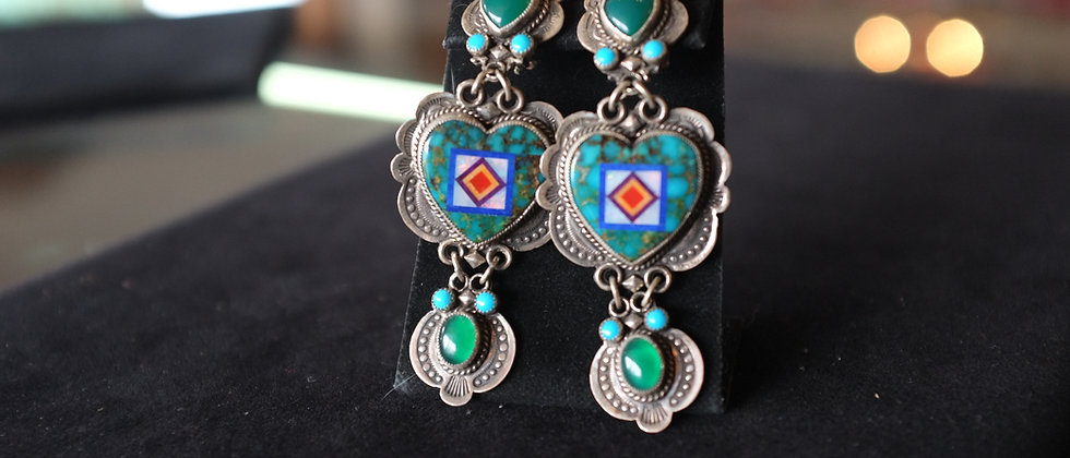 Multi-stone Inlay Earrings