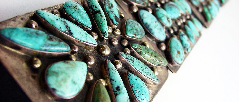 Navajo Turquoise Cluster Belt