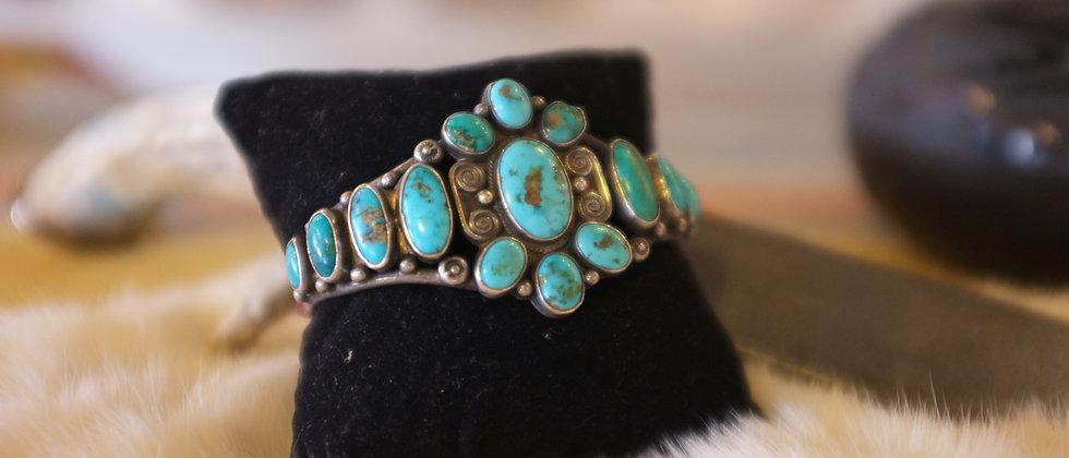 1920s Turquoise Bracelet