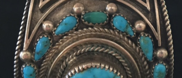 1970s Kingman Turquoise Watch Bracelet