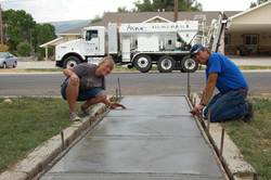 Finishing Concrete with my daughter