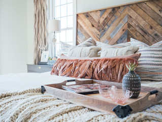 A Scandinavian Bohemian Rustic Traditional Master Bedroom