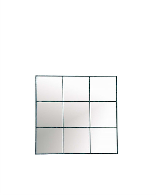 Black Square Paned Mirror