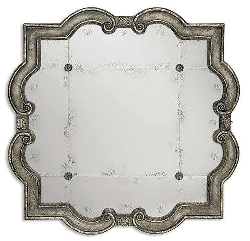 Priscilla Quatrefoil Antiqued Mirror