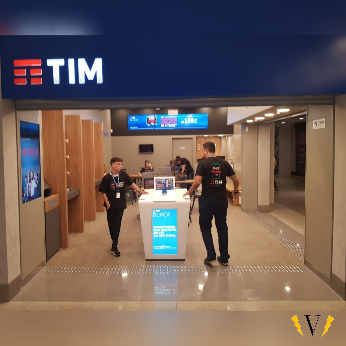 Instalação Elétrica de Loja - TIM