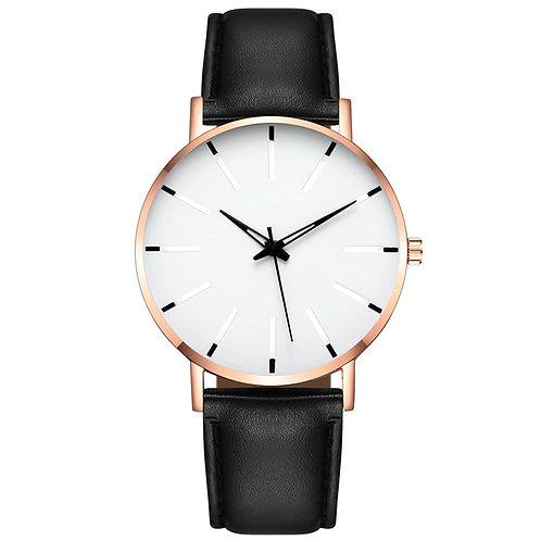 Minimal Watch (White & Gold)