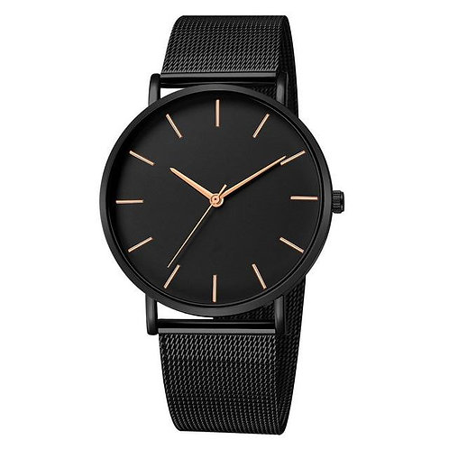 Lavish Watch (Total Black & Rose Gold)