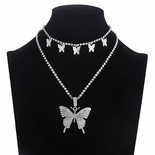 ''Butterfly'' Chain + Pendant Set