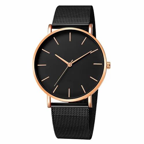 Lavish Watch (Total Black & Gold)