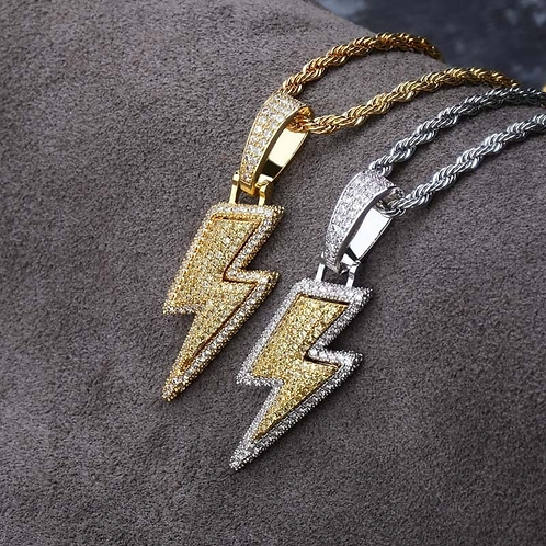 ICED OUT LIGHTNING PENDANT