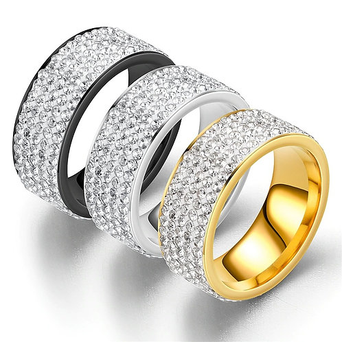 ''ICED OUT'' RING COLLECTION