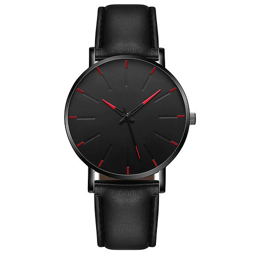 Minimal Watch (Black & Red)