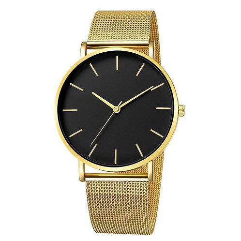 Lavish Watch (Gold & Black)