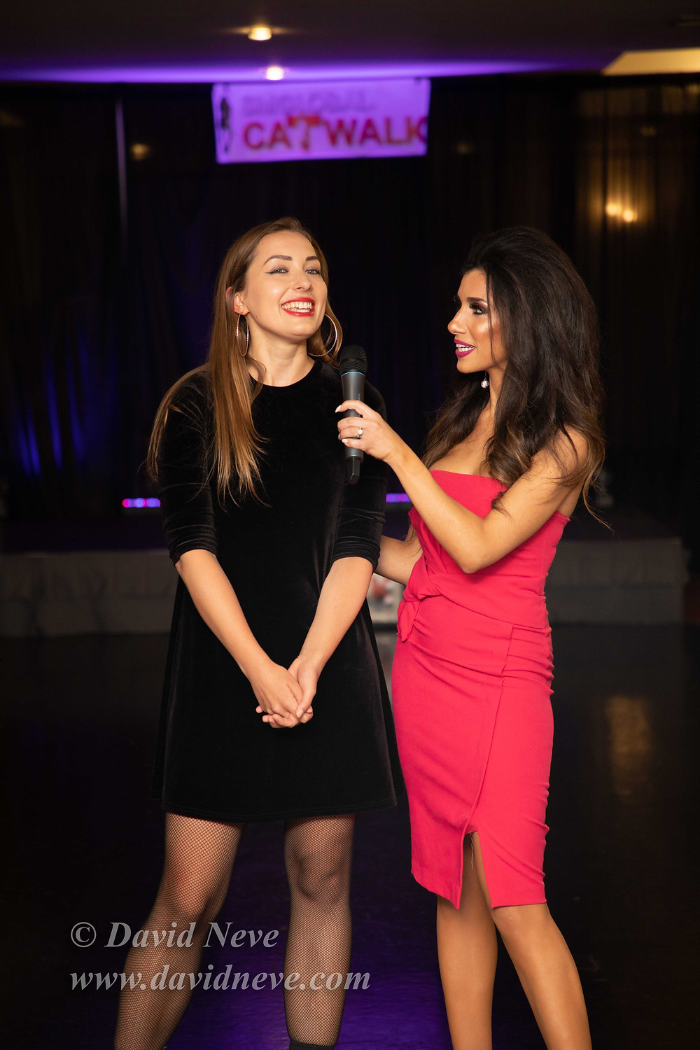 Singer Violeta being interviewed by Show presenter Ellie Torres.