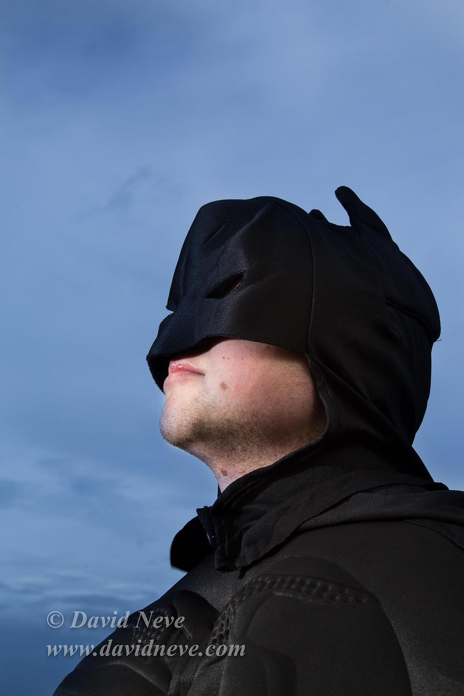 Ben in Batman Suit.