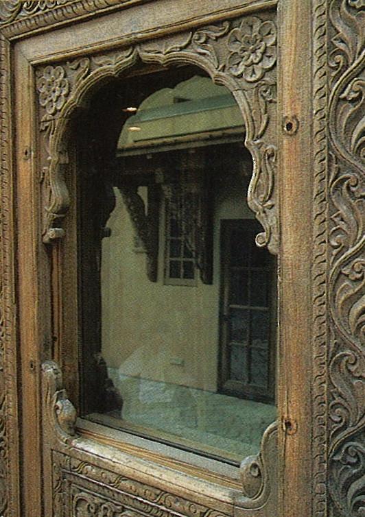 Ornately carved window