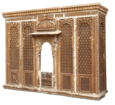 Architecture, Architectural pieces, Stone Wall, facade, wooden doors, wooden windows, marble pavilion, wood carving