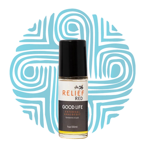 Relief RED Oil Roller with CBD by Good Life Botanicals 100% Organic, All-Natural