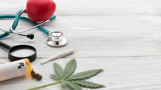 Stethoscope and medical marijuana