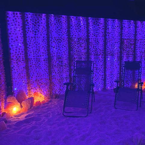 Pellegrino Healing Center salt cave lounge chairs