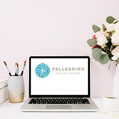 laptop with Pellegrino Healing Center website on it