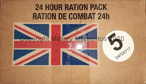 British 24 hour Ration Pack - MRE