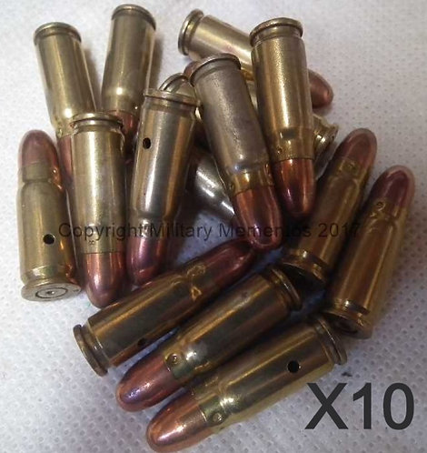 7.62 x 25mm Tokarev Russian Drill Rounds
