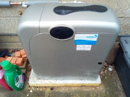 Installing a Kinetico water softeners outside