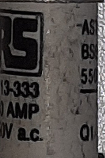 RS 10A  BS88 Type A2 Fuse