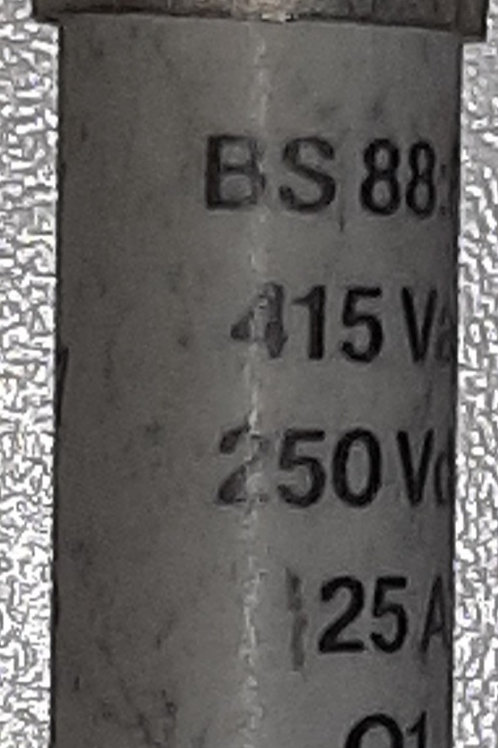 RS 16A BS88 F1 Fuse