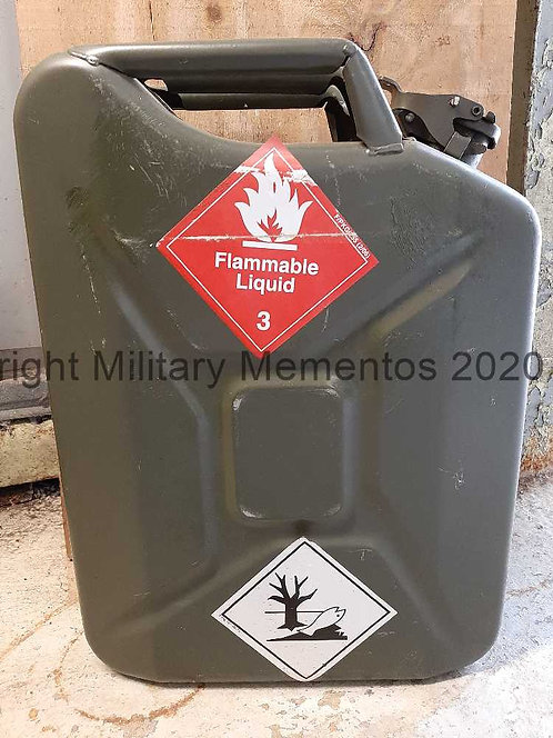 20 litre Metal Jerry Can - Fuel Storage - Ex British Military