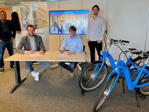 MOBIAN geeft met samenwerking Deelfiets Nederland hun Park & Bike concept in de Randstad een boost