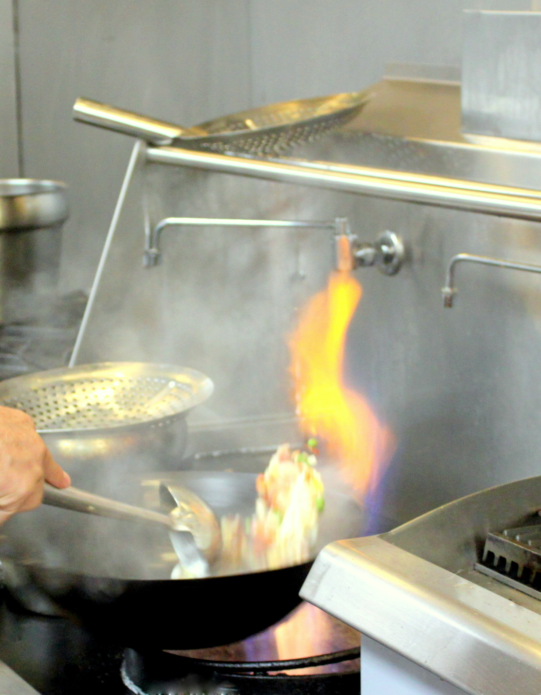 Wok seared food